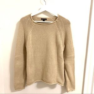 J. Crew Natural Oatmeal Cotton Sweater